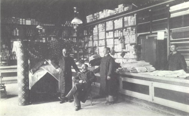 Sucursal Rawson de la Compañía Mercantil Chubut, año 1911.